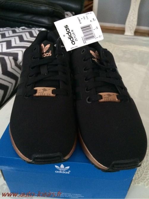 basket adidas zx flux noir et bronze