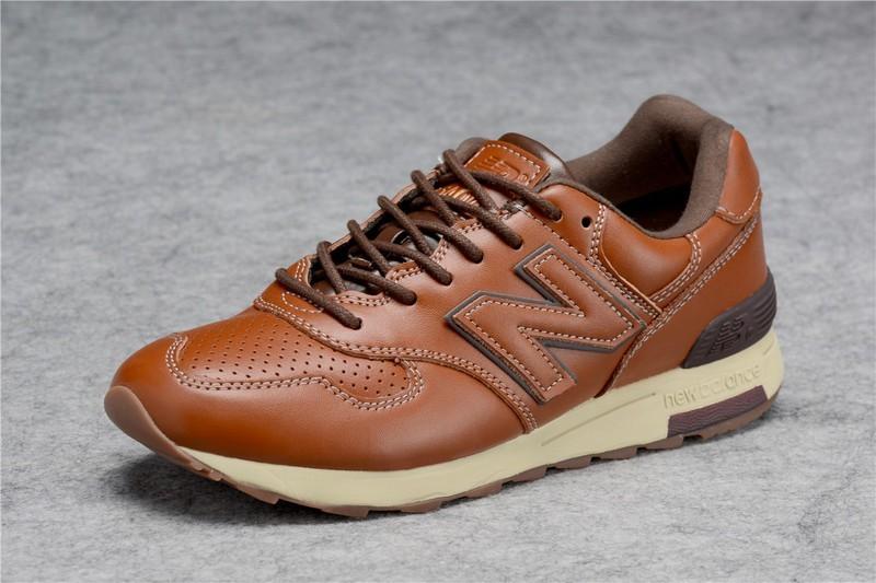 new balance hommes marron cuir