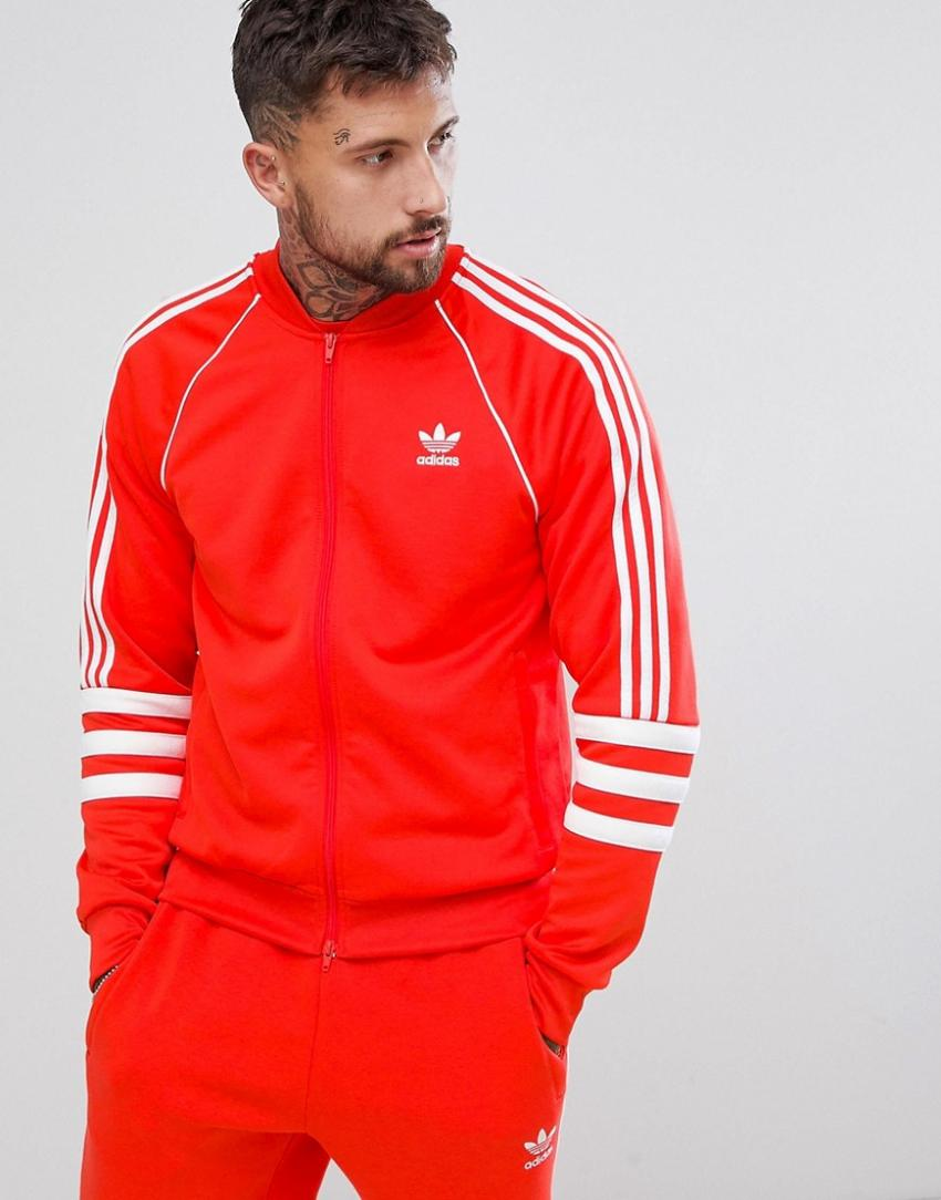 ensemble adidas hommes rouge